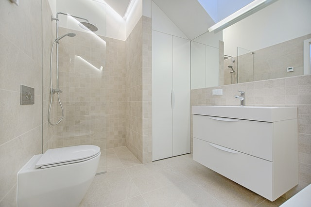 simple and modern bathroom in Edmonton